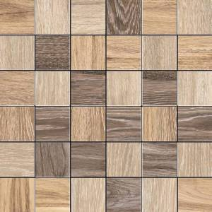 Reserve Collection by Happy Floors Mosaic Tile 2x2 Warm Mix