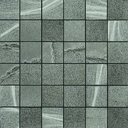 Rhin Collection by Happy Floors Mosaic Tile 2x2 Gris