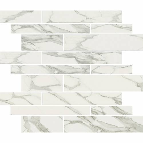 Stratus Collection by Happy Floors Mosaic Tile 12x12 Muretto Grigio Polished