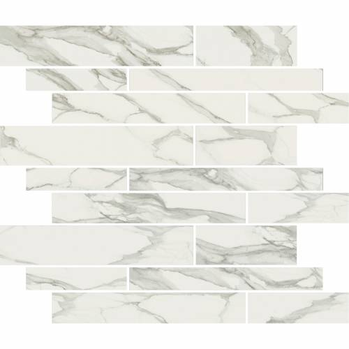 Stratus Collection by Happy Floors Mosaic Tile 12x12 Muretto Grigio Natural