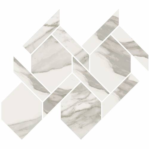 Stratus Collection by Happy Floors Mosaic Tile 13x14.5 Rope Grigio Natural