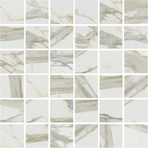Stratus Collection by Happy Floors Mosaic Tile 2x2 Oro Polished