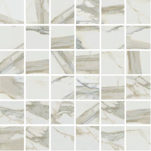 Stratus Collection by Happy Floors Mosaic Tile 2x2 Oro Natural