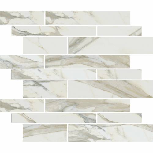 Stratus Collection by Happy Floors Mosaic Tile 12x12 Muretto Oro Polished