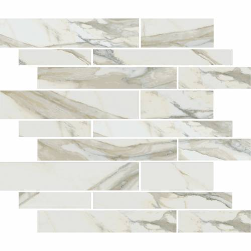 Stratus Collection by Happy Floors Mosaic Tile 12x12 Muretto Oro Natural
