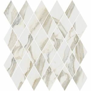 Stratus Collection by Happy Floors Mosaic Tile 12.5x13.5 Rhomboid Oro Natural