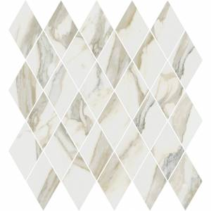 Stratus Collection by Happy Floors Mosaic Tile 12.5x13.5 Rhomboid Oro Polished