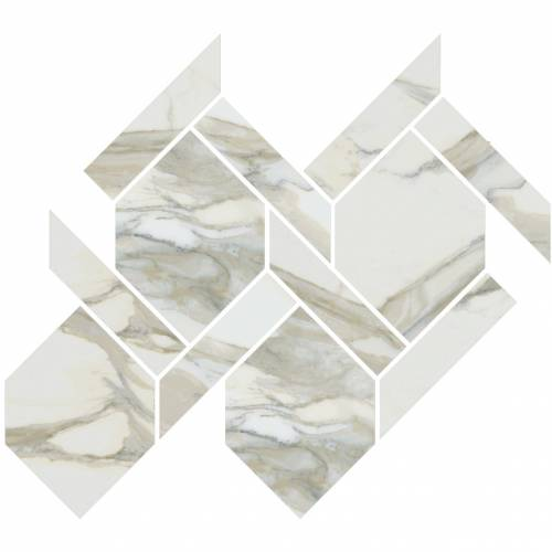 Stratus Collection by Happy Floors Mosaic Tile 13x14.5 Rope Oro Natural