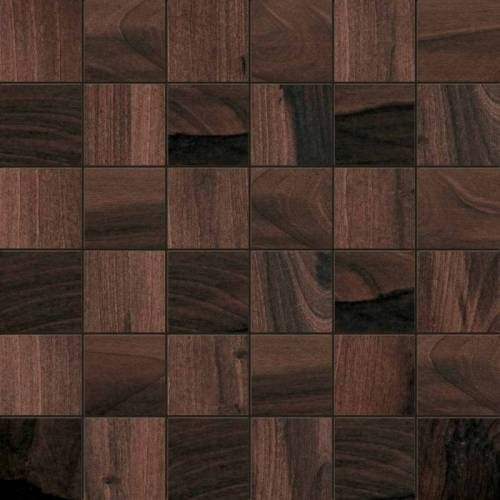 Tigerwood Collection by Happy Floors Mosaic Tile 2x2 Papaya