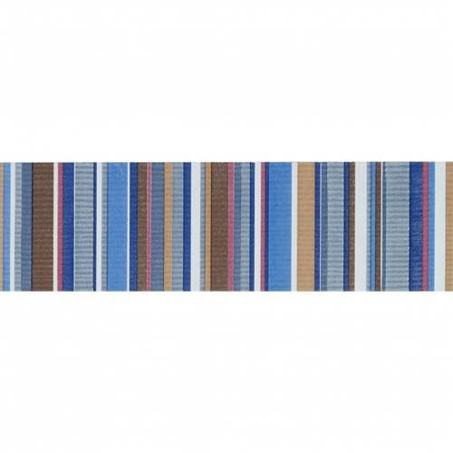 Aquarelle Collection by Interceramic 4x10 in. - Blue Stripes Listel