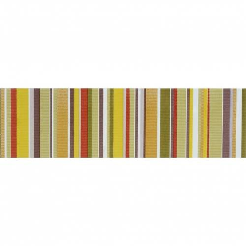 Aquarelle Collection by Interceramic 4x10 in. - Green Stripes Listel