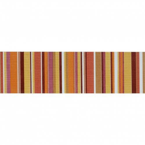 Aquarelle Collection by Interceramic 4x10 in. - Red Stripes Listel