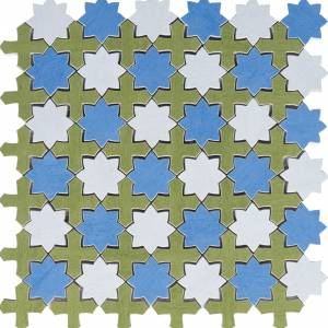 Aquarelle Collection by Interceramic Mosaic 12x12 in. - Star Blue