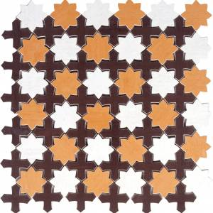 Aquarelle Collection by Interceramic Mosaic 12x12 in. - Star Red