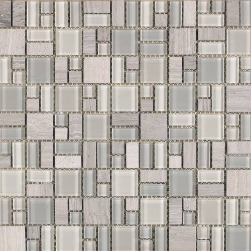 INTERCERAMIC - Pietra Cristal Collection 12x12 Geometrics Mosaic