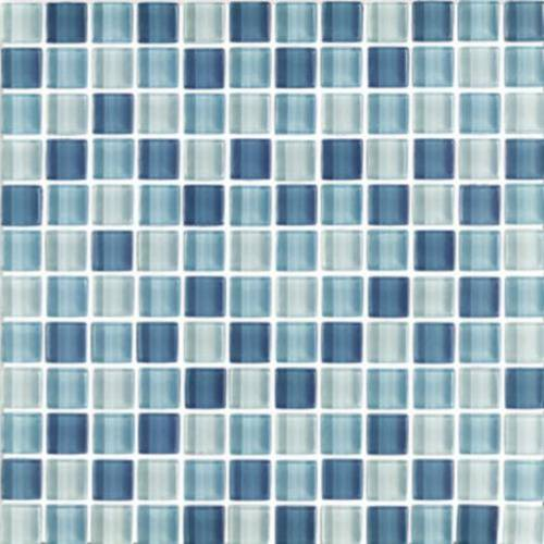 Interglass Shimmer Blends Collection by Interceramic Mosaics 1x1 in. - Arctic