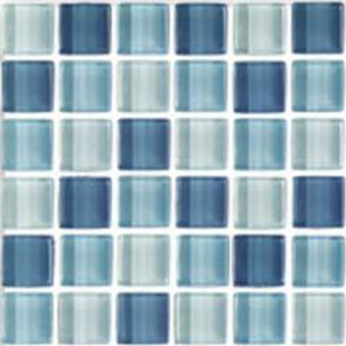 Interglass Shimmer Blends Collection by Interceramic Mosaics 2x2 in. - Arctic
