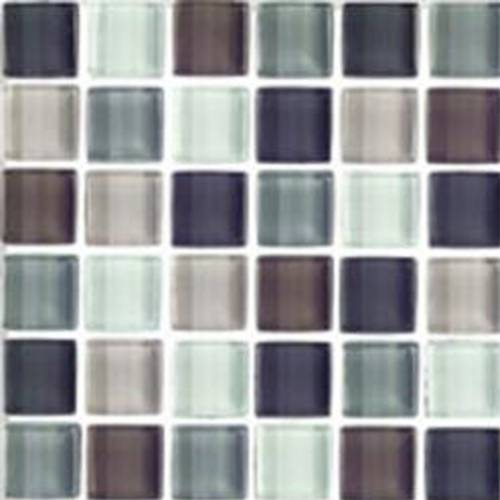 Interglass Shimmer Blends Collection by Interceramic Mosaics 2x2 in. - Autumn