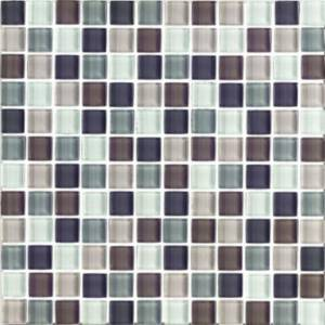 Interglass Shimmer Blends Collection by Interceramic Mosaics 1x1 in. - Autumn