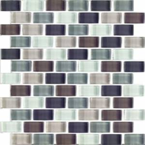 Interglass Shimmer Blends Collection by Interceramic Mosaics 1x2 in. - Autumn