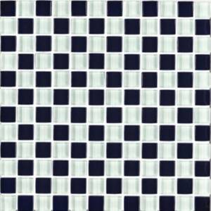 Interglass Shimmer Blends Collection by Interceramic Mosaics 1x1 in. - Checkerboard
