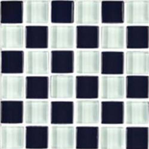 Interglass Shimmer Blends Collection by Interceramic Mosaics 2x2 in. - Checkerboard