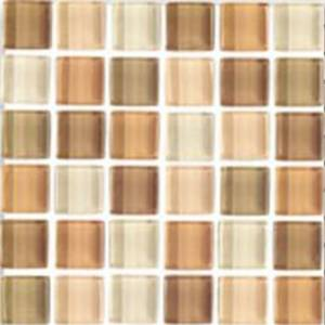 Interglass Shimmer Blends Collection by Interceramic Mosaics 2x2 in. - Coral