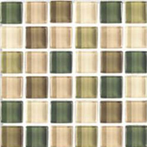 Interglass Shimmer Blends Collection by Interceramic Mosaics 2x2 in. - Foliage