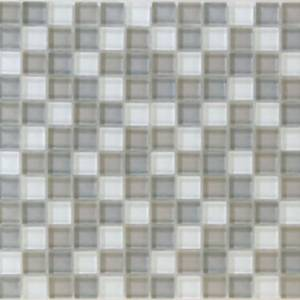 Interglass Shimmer Blends Collection by Interceramic Mosaics 1x1 in. - Frost