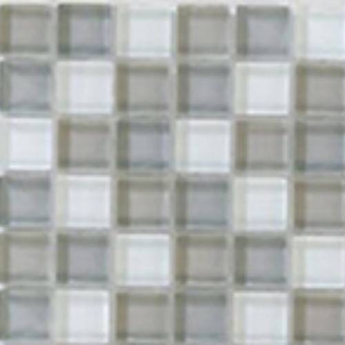 Interglass Shimmer Blends Collection by Interceramic Mosaics 2x2 in. - Frost