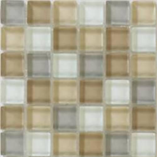 Interglass Shimmer Blends Collection by Interceramic Mosaics 2x2 in. - Haze