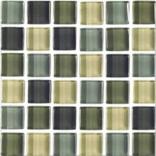 Interglass Shimmer Blends Collection by Interceramic Mosaics 2x2 in. - Ocean