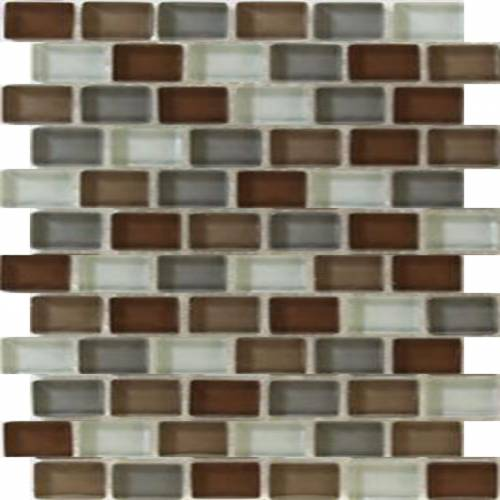 Interglass Shimmer Blends Collection by Interceramic Mosaics 1x2 in. - Prairie