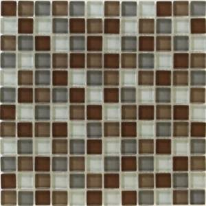 Interglass Shimmer Blends Collection by Interceramic Mosaics 1x1 in. - Prairie