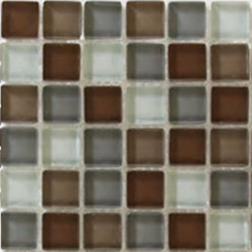 Interglass Shimmer Blends Collection by Interceramic Mosaics 2x2 in. - Prairie