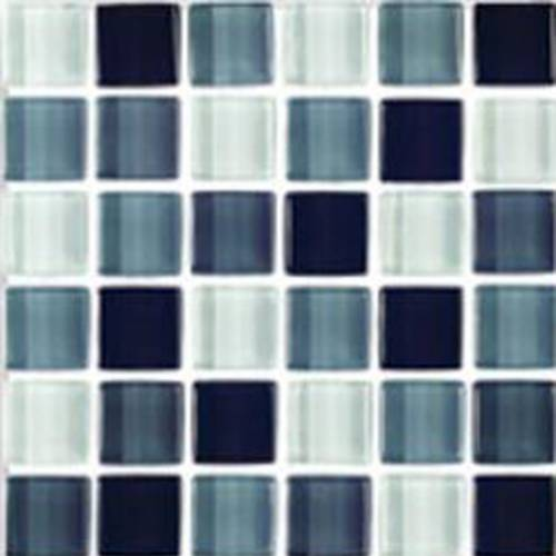 Interglass Shimmer Blends Collection by Interceramic Mosaics 2x2 in. - Shadow