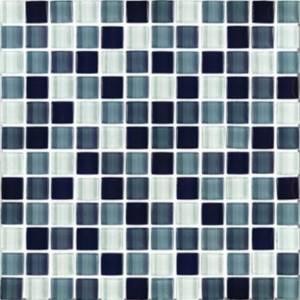 Interglass Shimmer Blends Collection by Interceramic Mosaics 1x1 in. - Shadow