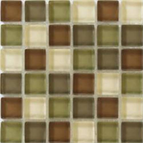 Interglass Shimmer Blends Collection by Interceramic Mosaics 2x2 in. - Woods