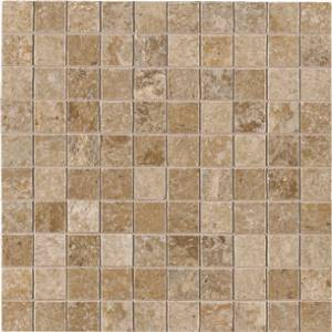 Dordogne Collection by Unicom Starker 12x12 in. Mosaic - Biscuit