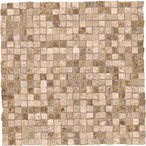 Dordogne Collection by Unicom Starker 12x12 in. Mosaic Mix - Caramel/Biscuit