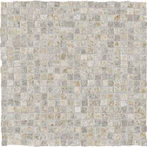 Dordogne Collection by Unicom Starker 12x12 in. Mosaic Mix - Cendre/Ivoire