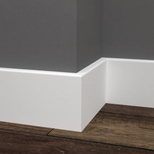 Baseboard By Impressa 1/2 in. X 3-1/4 in. MDF White
