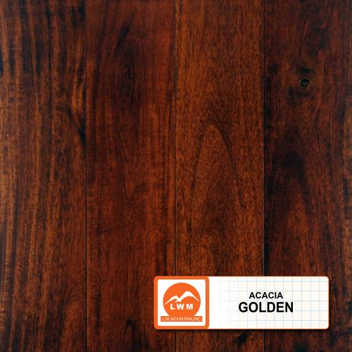 "Smooth Acacia Collection by LW Mountain Solid Hardwood 3-5/8"" Small Leaf Acacia - Golden"