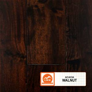 """Smooth Acacia Collection by LW Mountain Solid Hardwood 3-5/8"""" Small Leaf Acacia - Walnut"""