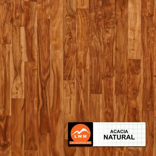 "Smooth Acacia Collection by LW Mountain Solid Hardwood 3-5/8"" Small Leaf Acacia - Natural"