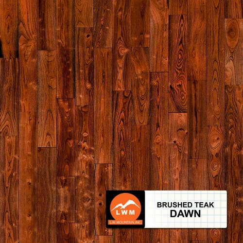 "Brushed Asian Teak Collection by LW Mountain Solid Hardwood 4-13/16"" Teak - Dawn"