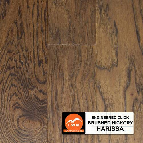 Brushed Click Collection by LW Mountain Engineered Hardwood 5 in. Hickory - Harissa