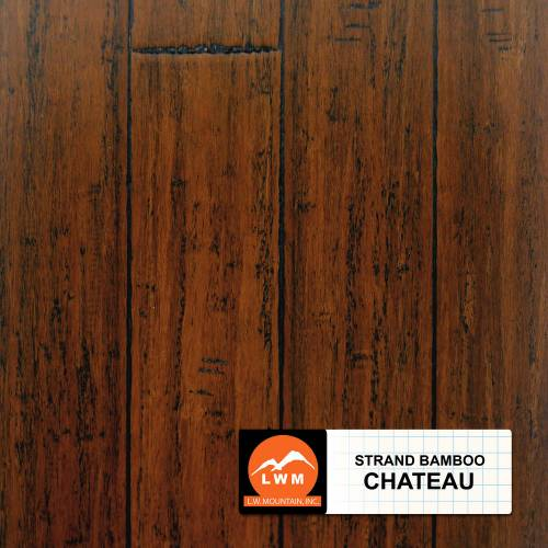 """Hand-Scraped Click Strand Bamboo Collection by LW Mountain Engineered Hardwood 5-1/10"""" Bamboo - Chateau"""