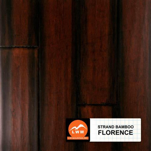 """Hand-Scraped Click Strand Bamboo Collection by LW Mountain Engineered Hardwood 5-1/10"""" Bamboo - Florence"""