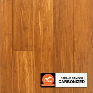 "Smooth Click Strand Bamboo Collection by LW Mountain Engineered Hardwood 5-1/10"" Bamboo - Carbonized"